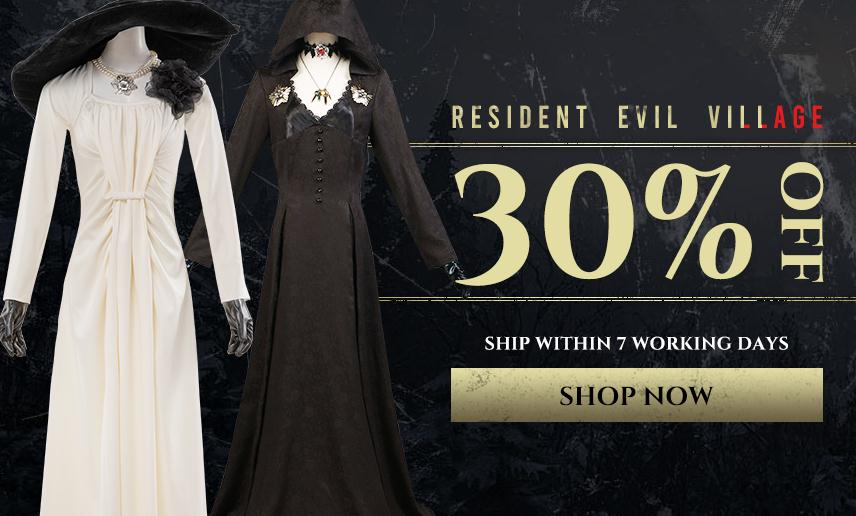 30% Off for Alcina Dimitrescu and Vampire Daughters Cosplay Costumes