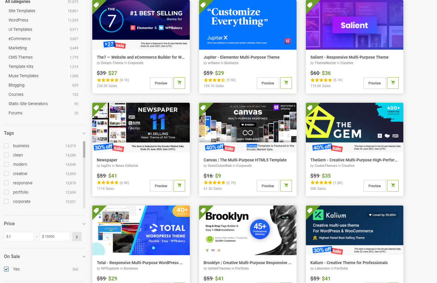 Up To 50% Off - Envato Market Mid Year Sale 2021