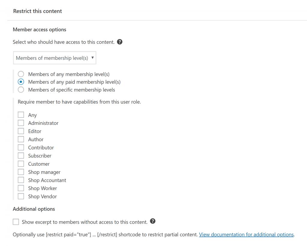 Restrict Content Pro Restrict This Content